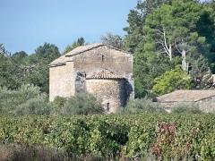 Eglise - Français:   Abside de la chapelle Saint Sixte d\'Aubignan