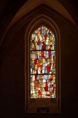 Eglise Saint-Michel - English: Vitrail situé sur la façade de l'église Saint-Michel