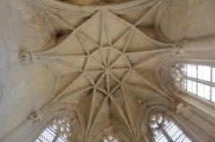 Eglise Saint-Michel - English: Détail d'une des deux voûtes en étoile de la chapelle Saint-Claude. À noter que la structure de la chapelle s'altère du fait d'un sol rendu instable lors des grandes crues du Rhône. Cela malgré que le village de Caderousse soit protégé de celles-ci par une digue d'une hauteur de 3 mètres qui le ceint totalement.