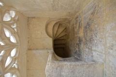Eglise Saint-Michel - English: Détail de l'accès à la balustrade dominant la chapelle Saint-Claude. La chapelle est de style gothique flamboyant d'inspiration anglaise par ses liernes et tiercerons