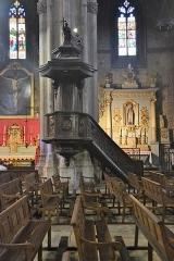 Eglise Saint-Siffrein, ou ancienne cathédrale - Français:   Cathédrale Saint Siffrein: Chaire à prêcher.