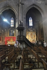 Eglise Saint-Siffrein, ou ancienne cathédrale - Français:   Cathédrale Saint Siffrein: Chaire à prêcher