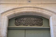 Hôtel Poupardin dit Maison du Prélat - Français:   Hôtel Poupardin de Carpentras dit Maison du Prélat maison, salon, élévation, escalier, toiture, décor intérieur (inscription)