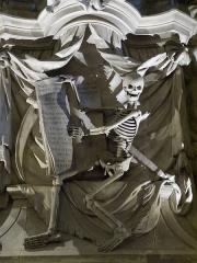 Ancienne cathédrale, puis église paroissiale Saint-Véran - Français:   Sculpture à l\'intérieur de la cathédrale.