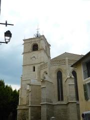 Eglise paroissiale Notre-Dame-des-Anges - Français:   Clocher de la Collégiale Notre-Dame-des-Anges de L\'Isle-sur-la-Sorgue