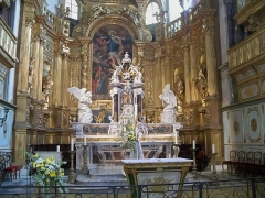 Eglise paroissiale Notre-Dame-des-Anges - Français:   Autel de Notre Dame des Anges à l\'Isle sur la Sorgue (84)