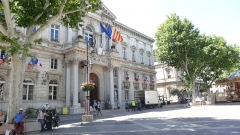 Hôtel de ville - This building is indexed in the Base Mérimée, a database of architectural heritage maintained by the French Ministry of Culture,under the reference PA00082105 .