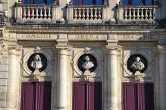 Théâtre municipal - Français:   Théâtre municipal d\'Orange élévation, toiture (Inscrit)