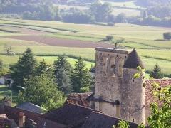 Eglise Saint-Martin et Sainte-Croix - Français:   Vue du clocher de l\'église d\'Allas les Mines