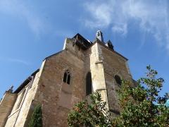 Eglise Saint-Jacques - Français:   Tour-clocher et clocher-mur de l\'église Saint-Jacques  à Bergerac dans le département de la Dordogne.