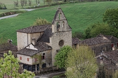 Eglise Notre-Dame-de-Bourg -  Vue de l'église Notre-Dame-de-Bourg depuis le château de Biron.