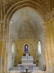 Eglise Saint-Martin de Sireuil - Français:   Église Saint-Pierre de Sireuil - Choeur