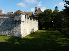 Château de Gageac - Français:   L\'angle sud-est de l\'enceinte et le fossé du château de Gageac, Gageac-et-Rouillac, Dordogne, France.