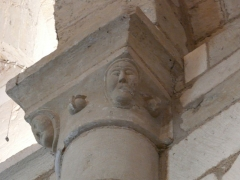 Eglise Saint-Pierre-et-Saint-Paul - Chapiteau de l'église Saint-Pierre et Saint-Paul de Grand-Brassac, Dordogne, France.