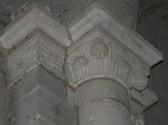 Eglise Saint-Pierre-et-Saint-Paul - Chapiteaux de l'église Saint-Pierre et Saint-Paul de Grand-Brassac, Dordogne, France.