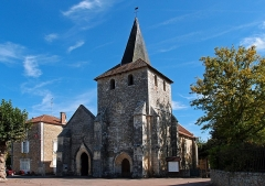 Eglise de Javerlhac - This building is inscrit au titre des monuments historiques de la France. It is indexed in the base Mérimée, a database of architectural heritage maintained by the French Ministry of Culture,under the reference PA00082588 .