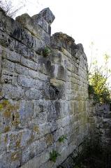 Ruines de l'ancienne chapelle de Fontroubade, appelée église Notre-Dame puis Sainte-Radegonde - Français:   Ruines de l\'ancienne chapelle du lieu-dit Fontroubade, commune de Lussas et Nontronneau, Dordogne, France. Extérieur côté nord.