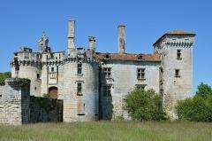Château de Mareuil - Français:   Partie résidentielle du château (XIVe et XVe siècles), Mareuil, Dordogne, France.