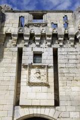 Château de Mareuil - Français:   Château de Mareuil, blason sur la porte.