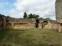 Ruines du château-fort - Français:   Les vestiges de l\'enceinte ouest du château fort de Molières, Dordogne, France.