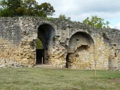 Ruines du château-fort - Français:   L\'entrée dans l\'enceinte ouest du château fort de Molières, Dordogne, France.