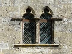 Maison à arcades du 14e siècle - Français:   Fenêtres gothiques de la façade sud, maison du Bayle, Molières, Dordogne, France.