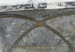 Cathédrale Saint-Front - Côté place de la Clautre, plafond d'une niche de la cathédrale Saint-Front de Périgueux, Dordogne, France.