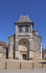 Eglise Saint-Germain de Rouffignac - Français:   Façade de l\'église Saint-Germain-de-Paris à Rouffignac-Saint-Cernin-de-Reilhac en Dordogne. Le 31 mars 1944, le village fut entièrement détruit et brûlé à titre de représailles, par l\'armée allemande (Division Brehmer), à l\'exception de cette église et des maisons attenantes.