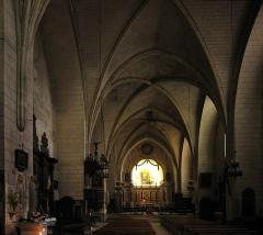 Eglise Saint-Cyprien - English: Gothic interior of the church of Saint-Cyprien, Département Dordogne/France