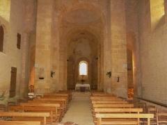 Eglise Saint-Léonce - La nef de l'église Saint-Léonce, Saint-Léon-sur-Vézère, Dordogne, France.