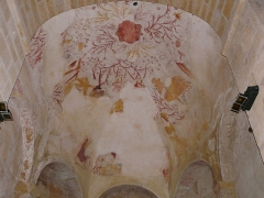 Eglise Saint-Léonce - Français:   Peintures du plafond du chœur de l\'église Saint-Léonce, Saint-Léon-sur-Vézère, Dordogne, France.