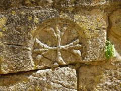Cimetière Saint-Benoît, enfeux et chapelle sépulcrale - Français:   Sarlat-la-Canéda ( Dordogne ). Passage des Enfeus ( Cemetery ) - Arcosolium grave ( detail ).