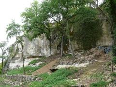 Abri Blanchard - Français:   Fouilles au pied de l\'abri Blanchard I, site préhistorique sur la commune de Sergeac, dans le vallon de Castel Merle, Dordogne, France.