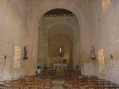 Eglise Saint-Pantaléon - Français:   La nef de l\'église Saint-Pantaléon de Sergeac, Dordogne, France.