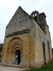 Eglise Saint-Pantaléon - Français:   Le portail occidental de l\'église Saint-Pantaléon de Sergeac, Dordogne, France.