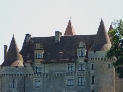 Château de Marzac - Français:   La façade nord-est du château de Marzac, Tursac, Dordogne, France.
