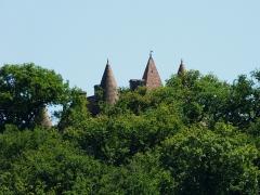 Château de Marzac - Français:   Les toits du château de Marzac vus depuis le nord-nord-ouest, Tursac, Dordogne, France.