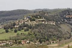Château de Marqueyssac -  Vue du château de Marqueyssac depuis le château de Beynac.