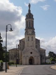 Eglise Notre-Dame - English: Bayon-sur-Gironde, Église Notre-Dame, façade