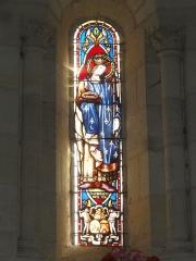 Eglise Notre-Dame - English: Bayon-sur-Gironde, Église Notre-Dame, vitrail 01