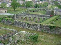 Citadelle de Blaye - Français:   Citadelle de Blaye, Gironde. Accés à la Porte Royal vue du Bastion des Cônes