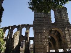Restes de l'amphithéatre dit Palais Gallien - Français:   Murs extérieurs du palais Gallien de Bordeaux