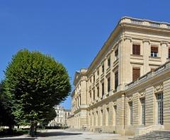 Palais de Rohan (ancien archevêché, actuel Hôtel de ville) - Bordeaux (France): le Palais Rohan, côté jardin