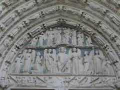 Cathédrale Saint-André - Portail royal de la cathédrale Saint-André de Bordeaux (33). Tympan.