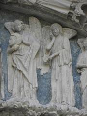 Cathédrale Saint-André - Portail royal de la cathédrale Saint-André de Bordeaux (33). Tympan. 2ème registre.