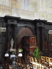 Eglise Saint-Bruno - English: Priest box
