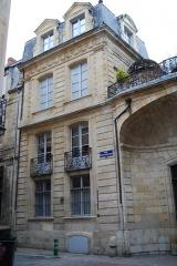 Ancien Hôtel Pichon-Longueville - Français:   Hôtel Pichon-Longueville, 9 rue Poquelin-Molière (Inscrit, 1930)