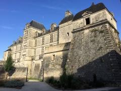 Château des Ducs d'Epernon, actuellement Musée historique et iconographique -  Façade et bastion du château de Cadillac.