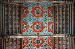 Domaine de Roquetaillade - Plafond de la chapelle du château de Roquetaillade (Gironde, France)