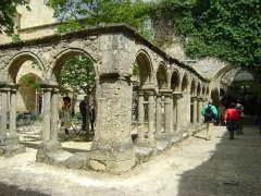 Ancien couvent des Cordeliers - Français:   Ancien couvent des Cordeliers de Saint-Emilion, Gironde. Le cloître.